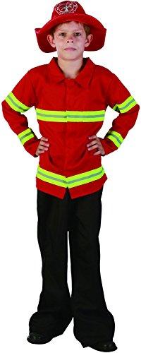 Imagen de reír y confeti  ficpol020  disfraces para niños  traje little red bombero  boy  talla l