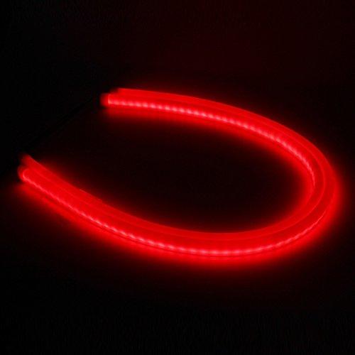 shinfok 260cm weiß Bernstein gelb rot blau LED Tagfahrlicht Tageslicht Running Light Tube Flexible LED Strip DRL Lichtband Scheinwerfer - Light Running Switch