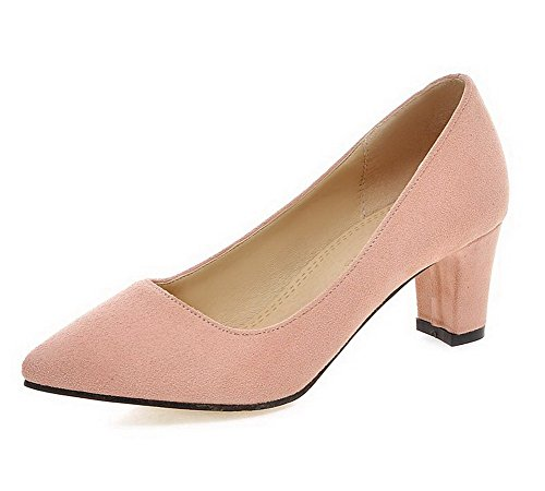agoolar-womens-pointed-closed-toe-pull-on-imitated-suede-solid-kitten-heels-pumps-shoes-pink-37