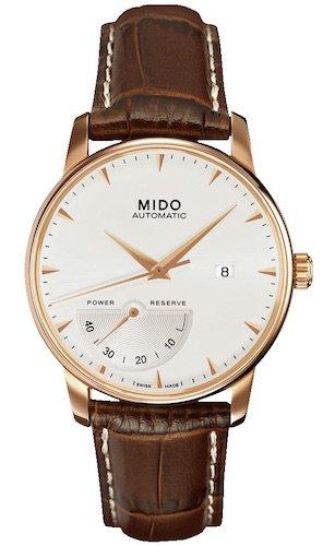 MIDO m86053118–Montre de Poignet pour Homme, Bracelet en Cuir Marron