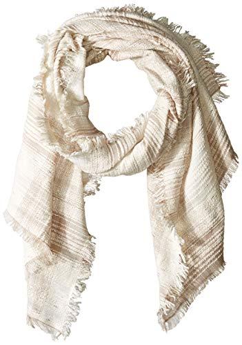 Collection XIIX Damen Santorini Plaid Wrap Modischer Schal, sand, Einheitsgröße -