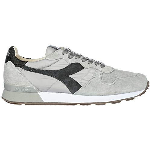 Diadora Heritage Chaussures Baskets Sneakers Homme en Daim Camaro h Gris