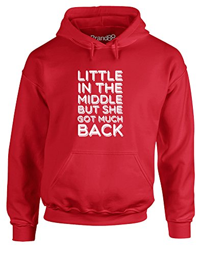 She Got Much Back, Gedruckt Hoody - Pullover - Rote/Weiß M = 96-101 cm (Shes Got Legs)
