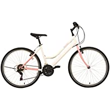 "F.lli Schiano Mountain Thunder Lady Bicicletta da Donna, Bianco/Rosa Opaco, 26"""