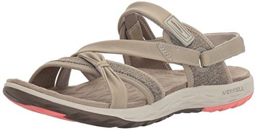 Merrell Damen Vesper Lattice Sandalen, Grau (Aluminium), 41 EU Merrell Slip-heels