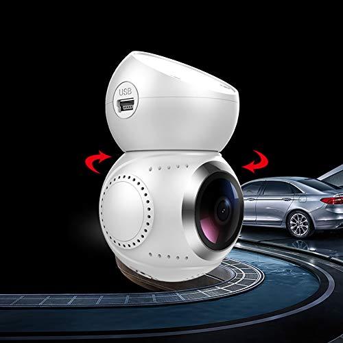 Yiwa Auto Dashcam Autokamera, G21 Wireless WiFi Auto DVR Kamera 1080 P FHD Videorecorder Registrator 360 Grad GPS Logger Nachtsicht Dash Cam