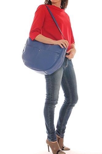 Borsa a tracolla donna in vera pelle bottalata Bluette