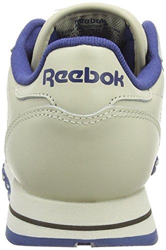 Reebok Classic Leather, Scarpe da Ginnastica Donna ecru-navy