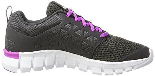 Reebok Sublite Xt Cushion 2.0 Mt, Scarpe da Corsa Donna Grigio (Coal/Vicious Violet/White/Pewter)