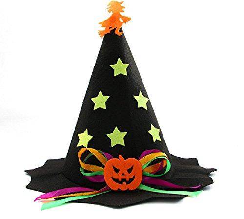 (KAIMENG Kid 's Wizard Hat Witch 's Spitz Hat Halloween Kostüm)