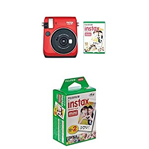 Instax Mini 70 Instant Camera with 30 Shots - Red