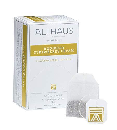 Althaus Deli Pack Rooibush Strawberry Cream 20 x 1,75g · Rooibushtee im klassischen Teeaufgussbeutel