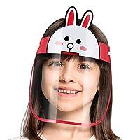 درع واقي لحماية الوجه للأطفال يحمي من الرذاذ ويمنع لمس الوجه - أرنب/Adjustable Transparent Face Shield Anti Fog-Anti-Droplets with Full Face protective Shield/Mask for Kid's - Rabbit