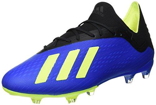 adidas Herren X 18.2 FG Fußballschuhe, Blau (Football Blue/Solar Yellow/Core Black), 44 2/3 EU