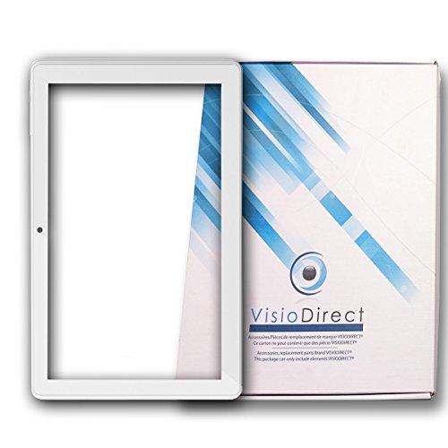 """Vitre ecran tactile pour Archos 101D Neon 10.1"""" blanc tablette - Visiodirect -"""