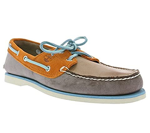 Timberland Classic 2-Eye Boat Chaussures Mens Brown A16KN, Size:43.5