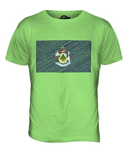 CandyMix Maine Bandiera Scarabocchio T-Shirt da Uomo Maglietta Verde Lime