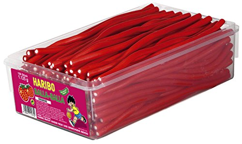 Preisvergleich Produktbild Haribo Balla Balla Erdbeere Menge:1125g Box