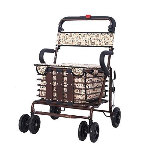 Xiaotian Roller-faltender Einkaufswagen kann Vier Runden dauern, um Nahrung zu kaufen und Hilfe kann kleine Wagen-alte tragbare Laufkatze drücken