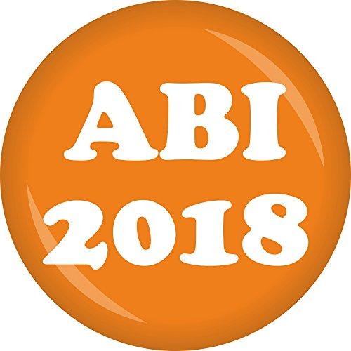 Preisvergleich Produktbild partydiscount24 Button ABI 2018 - Freie Farbwahl - 6 Stück Ø 50 mm (Orange)
