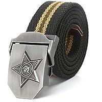 Cinturón Cinturón De Lona De Lujo Para Hombre Y Mujer Cinturón De Vaqueros  Con Hebilla De 2bdc0869ac7