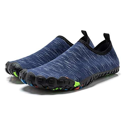 letter54 Trekking Schuhe Herren Damen Sportschuhe 90er Sportschuhe Arbeit Schuhe Herren Espadrilles atmungsaktive Schuhe Damen Sportschuhe Damen bunt Blau 46 EU