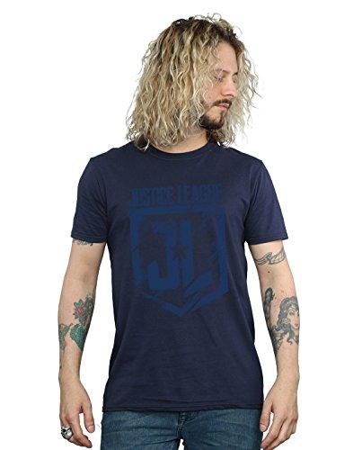 DC Comics Herren Justice League Movie Indigo Logo T-Shirt Medium Marine -