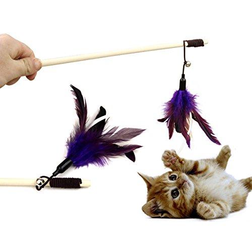 KINGDUO Yani Hp-Pt1 Haustier Necken Katze Stock Pure Gans Feder Holz Katze Spielzeug Pet Funny Playing Supplies