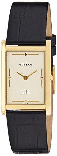 Titan Edge Analog Champagne Dial Men's Watch - NC1043YL05