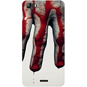 Casotec Hand Blood Brush Scary Design Hard Back Case Cover for Micromax Bolt Q338