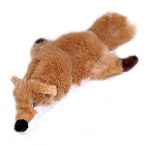 The Animate Company Flat Friend Skin Squeaky Dog Toy Fox