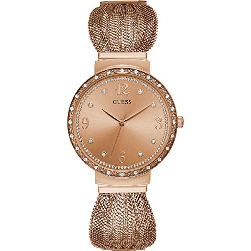 Guess Reloj Analógico para Mujer de Cuarzo con Correa en Acero Inoxidable W1083L3