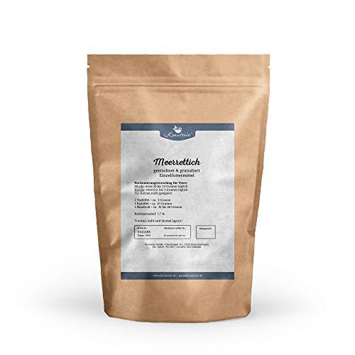 Krauterie Meerrettich in hochwertiger Qualität, frei von jeglichen Zusätzen, für Pferde und Hunde (Armoracia rusticana) - 250 g