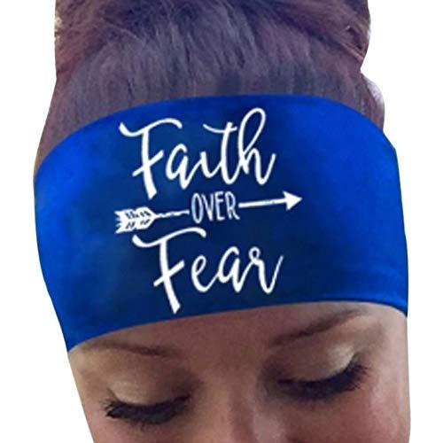 LUGOW Damen Stirnbänder Sport Yoga Schweißband Gym Stretch Stirnband Haarband Turban Headwraps Schweißableitendes Kopftuch Stirnbänder Haarschmuck Haargummis Damen Haarreife(Blau)