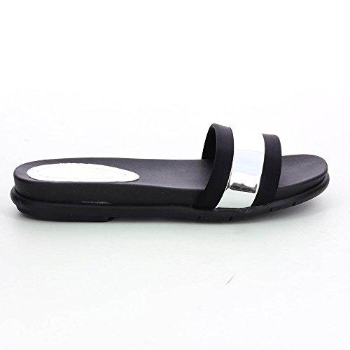 Sandali metallizzato da donna ultra confortevole Argentato