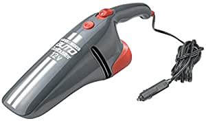 Black & Decker AV1205 Grey DC Car Vacuum Cleaner with 12V DC Power Adapter