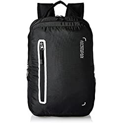 American Tourister Polyester 27 Ltrs Black Laptop Backpack (AMT BOP2017 LAPTOP BKPK4-BLACK)