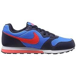 Nike Herren Md Runner 2 (gs) Leichtathletikschuhe, Mehrfarbig (Photo Blue/Bright Crimson/Obsidian/White 412), 38.5 EU