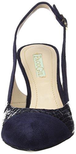 Paco Gil - P3011, Scarpe col tacco con cinturino a T Donna Blu (Blau (Navy/Ocean))
