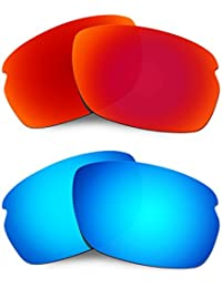 Hkuco Mens Replacement Lenses For Oakley Carbon Shift Sunglasses Red/Blue Polarized