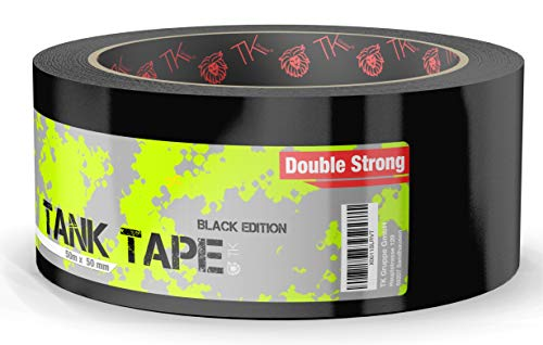 Panzertape Tank Tape 2.0 Black Edition schwarz - Gewebeklebeband 50 Meter * 50 mm, ultrastark & witterungsbeständig Panzerklebeband Reperaturband Gewebeband Duct Tape (1x Stück)