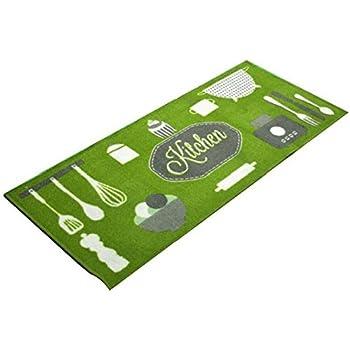 Tapis de cuisine antidérapant kitchen vert
