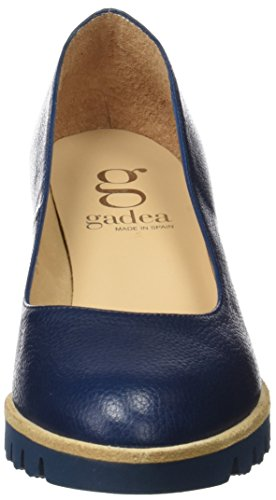 Gadea Damen 40544 Geschlossene Schuhe mit Absatz, Braun Blau
