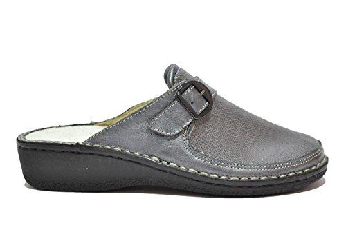 Cinzia Soft Ciabatte antracite scarpe donna PLANTARE ESTRAIBILE 2977BV 38