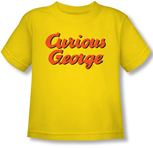 Curious George - Kleinkind-Logo-T-Shirt, 4T, Yellow