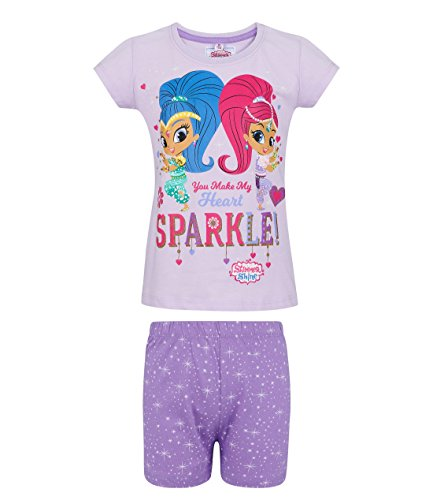 Shimmer and Shine Girls Short Sleeve Pyjama - Purple