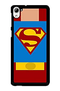 Caseque Superman Suit Back Shell Case Cover for HTC Desire 826