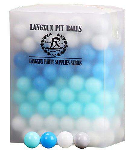 Langxun Pack von 200 Vier Farben Ball Pit Balls - Phthalatfrei BPA Free Crush Proof Plastikkugel | Ideale Geschenke für Kinder und Foto Booth Props für Baby und Kinder