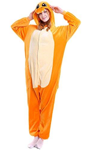 Dolamen Erwachsene Unisex Jumpsuits, Kostüm Tier Onesie Nachthemd Schlafanzug Kapuzenpullover Nachtwäsche Cosplay Kigurum Fastnachtskostuem Xmas Halloween (Small (57