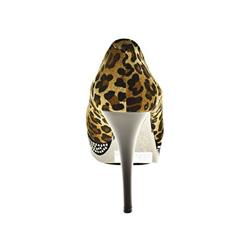 1TO3 - Escarpin lisse, plate-forme strass Animal Print